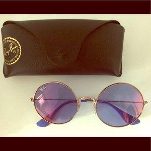 Purple tinted Ray Ban sunglasses